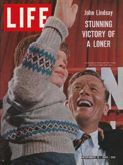 Life - New York City mayor-elect John Lindsay
