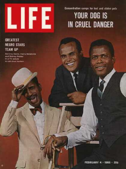 Life - Sammy Davis, Harry Belafonte, and Sidney Poitier