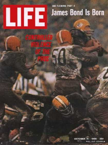 Life - Football: Greenbay Packers and Cleveland Browns