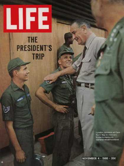 Life - President Johnson goes to Vietnam