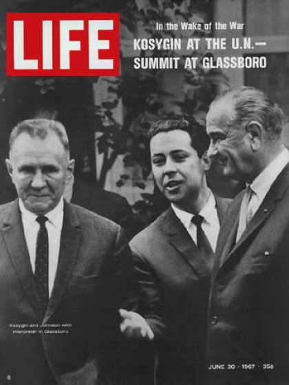 Life - Aleksei Kosygin and Lyndon Johnson at Glassboro
