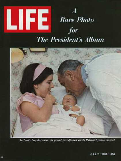 Life - President Johnson, daughter Luci, and grandson Patrick