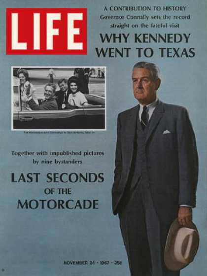 Life - Composite: Governor John Connally and the Kennedys