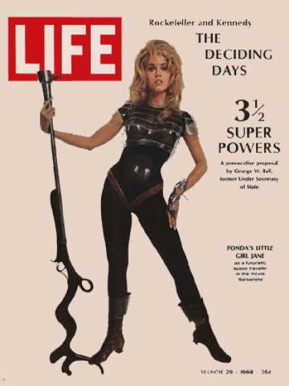 Life - Jane Fonda as Barbarella