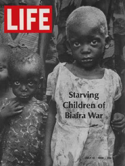 Life - Starving children of Biafra