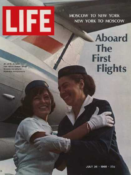Life - American and Soviet flight attendants