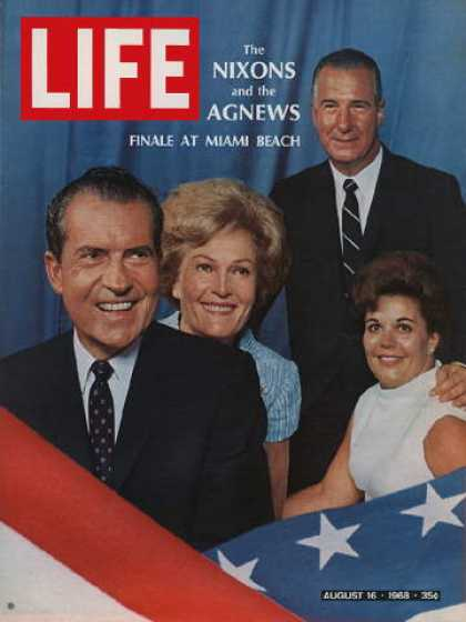 Life - Mr. and Mrs. Richard M. Nixon, Mr. and Mrs. Spiro Agnew