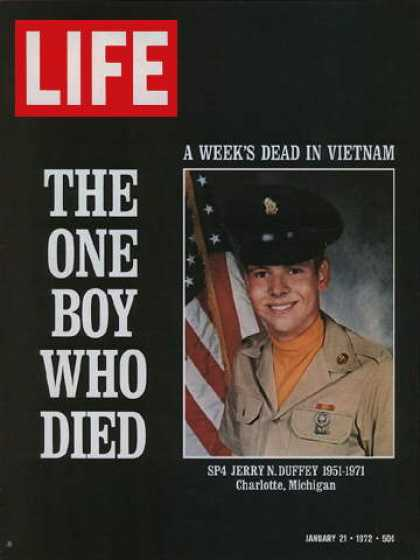 Life - Single U.S. Vietnam casualty in a week