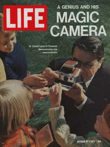 Life - Dr. Edwin Land with camera