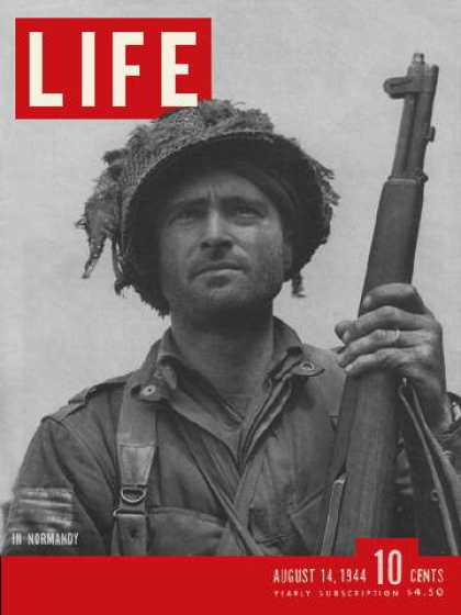 Life - Airborne infantry officer in Normandy