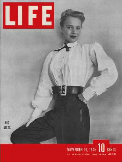 Life - Big belts in fashion