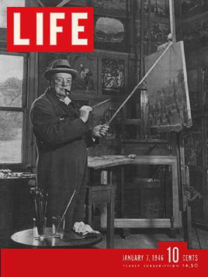 Life - Churchill's paintings