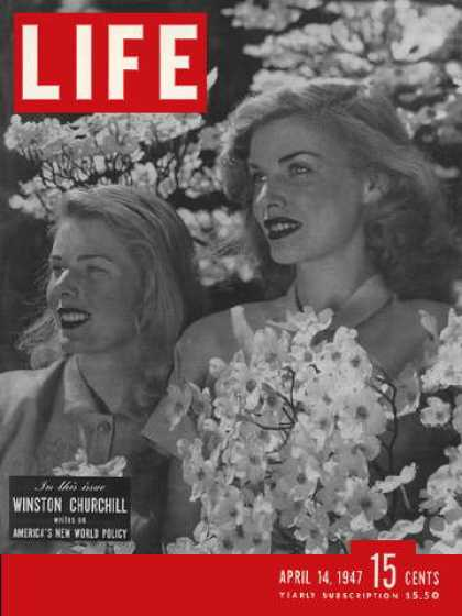 Life - Pretty girls and flowering dogwood