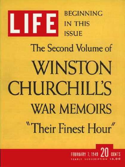 Life - Churchill's memoirs