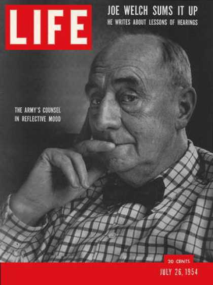 Life - Lawyer Joseph Welch
