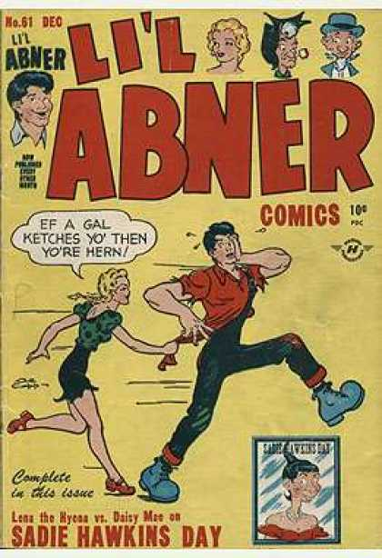 Li'l Abner 61 - 10 Cents - Sadie Hawkins - If A Gal Catches You - Abner - Daisy Mae
