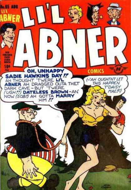 Li'l Abner 65 - Fat Boy - Tree - Rock - Grass - Blonde Hair