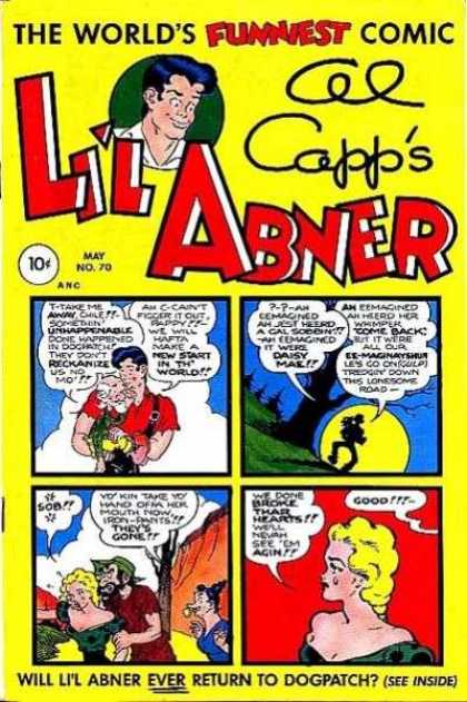 Li'l Abner 70 - Al Capps - The Worlds Funniest Comic - Red Shirt - Yellow Moon - Green Hat