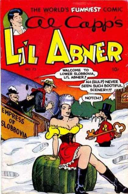 Li'l Abner 73 - The Worlds Funniest Comic - Al Capp - Empress Of Slobbovia - Snow - Key
