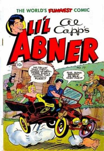 Li'l Abner 77 - Al Capp - Speech Bubbles - Daisy Mae - 10 Cents - Car