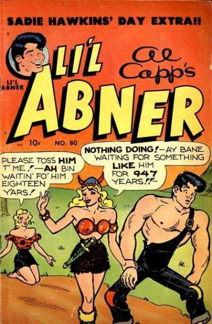 Li'l Abner 80 - Sadie Hawkins Day - Blonde Hait - Horned Hat - Sword - Dirt Road