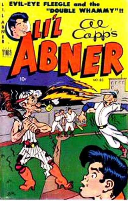 Li'l Abner 83 - Baseball - Evil-eye - Double Whammy - Lightening Bolts - Al Capp
