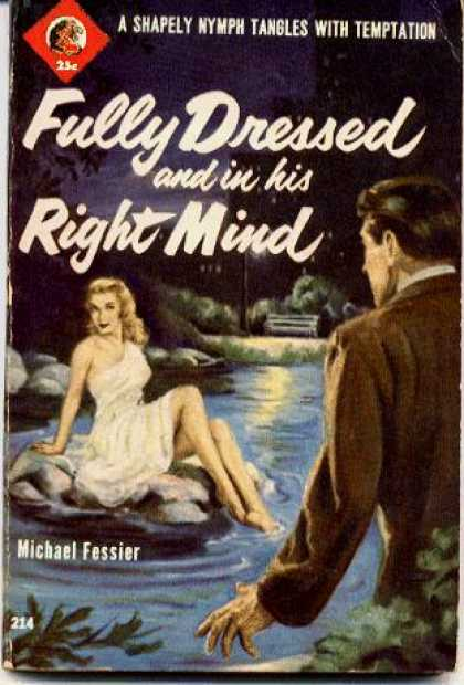 Lion Books - Fully Dressed and In His Right Mind - Michael Fessier