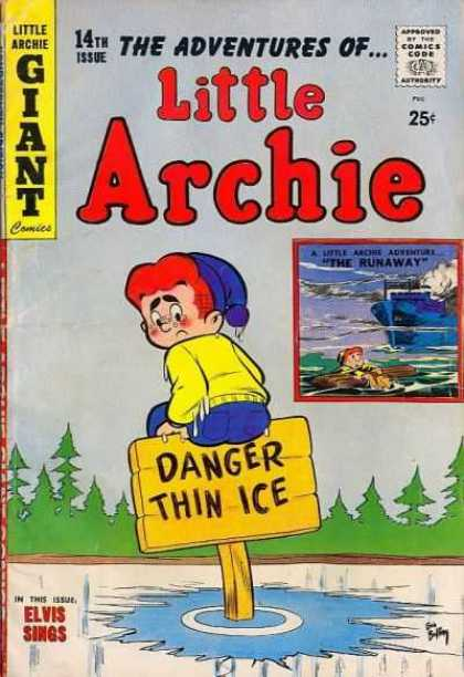 Little Archie 14 - Archie - Danger - Thin Ice - Giant - Comics