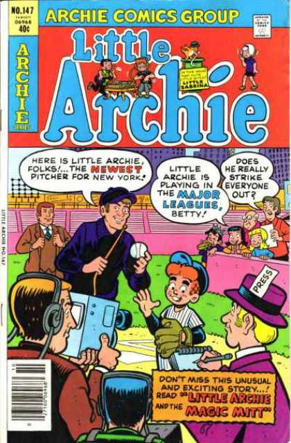 Little Archie 147 - Camera - Press Pass - Baseball Player - Microphone - Headsets