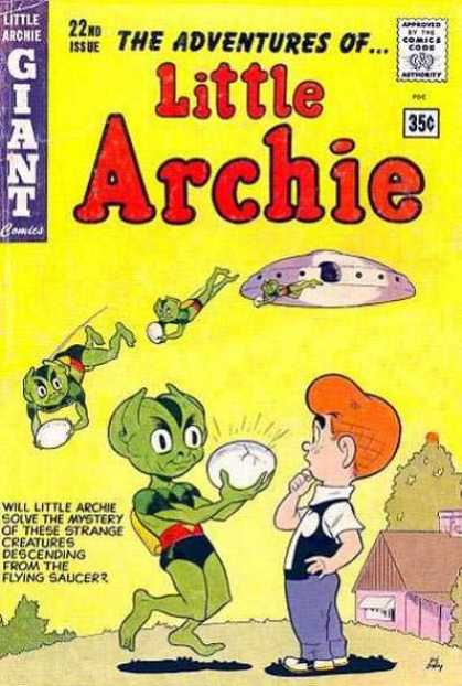Little Archie 22 - Alien - Egg - Flying Saucer - Little Green Men - Mystery