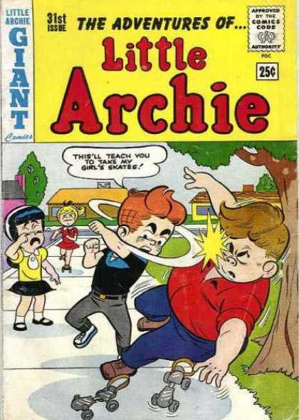 Little Archie 31 - Fight - Sidewalk - Roller Skates - Tree - Crying
