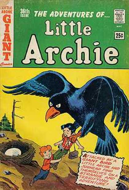 Little Archie 36 - The Adventures Of - Giant - Giant Crow - 36th Issue - Egg