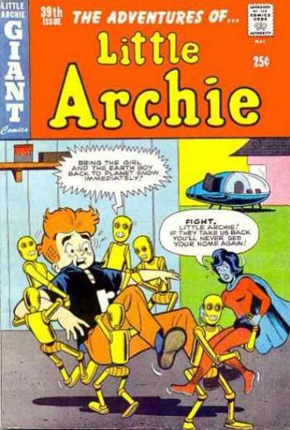 Little Archie 39 - Alien - Robot - Spaceship - Kidnapping - Green Girl