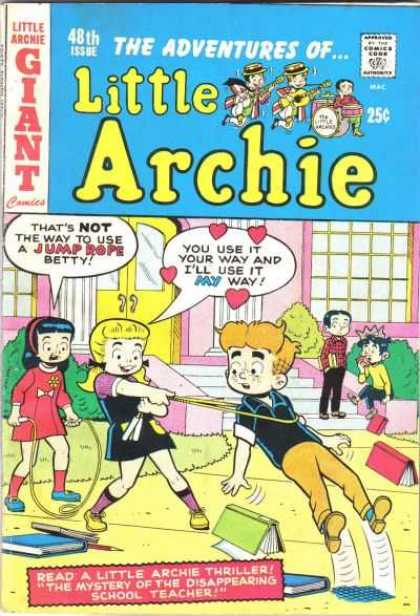 Little Archie 48 - Little Archie - Mystery Of The Disappearing School Teacher - Not The Way To Use A Jump Rope - Little Archie Thriller - Giant Comics