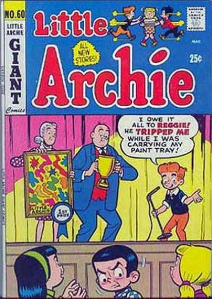 Little Archie 60 - Giant - All New Stories - I Owe It All To Reggie - He Tripped Me While I Was Carrying My Paint Tray - Stage