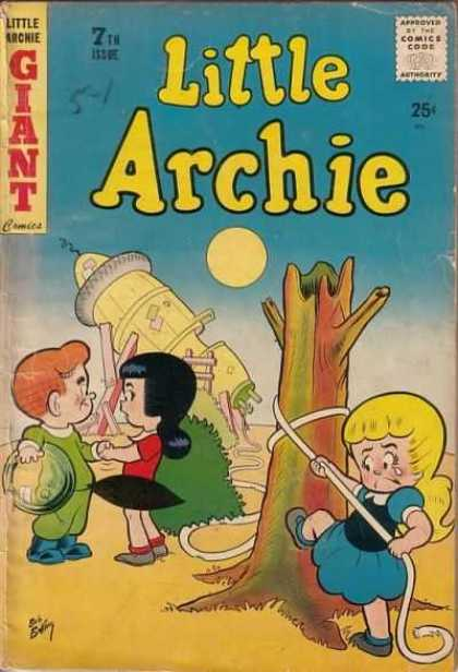 Little Archie 7 - Approved By The Comics Code - Giant - Rope - Space Ship - Girl