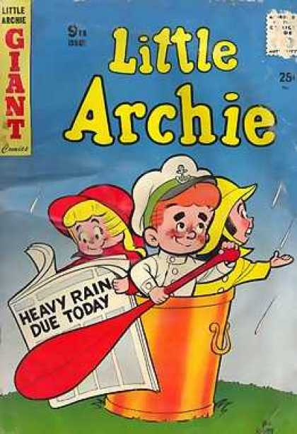 Little Archie 9 - Rain - Newspaper - Bucket - Oar - Captain