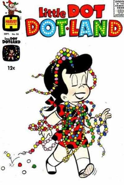 Little Dot Dotland 26 - Girl - Beads - 26 - Harvey Comics - Colorful
