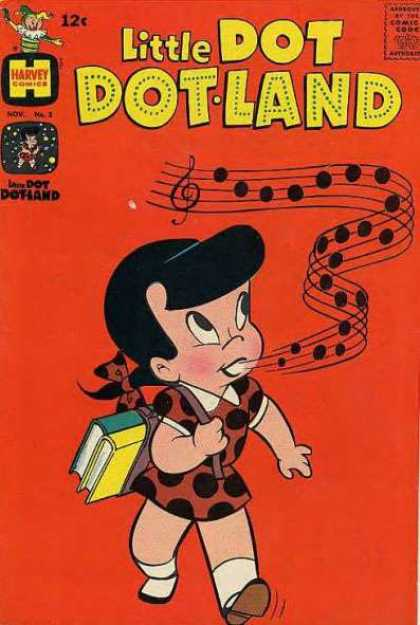 Little Dot Dotland 3 - Little Dot - Harvey - Singing - Music Notes - School Girl