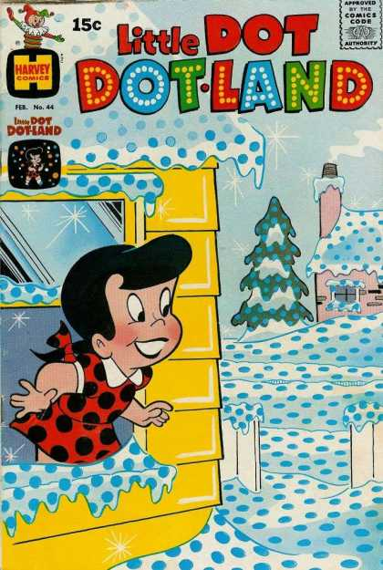 Little Dot Dotland 44 - Snow - Window - House - Tree - Girl