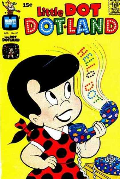 Little Dot Dotland 47 - Telephone - Red Dress - Polkadot - Hello Dot - Black Hair