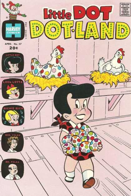 Little Dot Dotland 57 - Chickens - Eggs - Little Lotta - Richie Rich - Barn