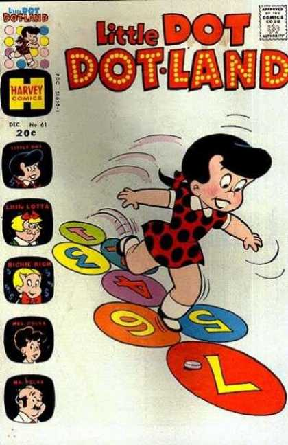 Little Dot Dotland 61 - Numbers - Polka Dot Dress - Black Hair - Twister - Dots