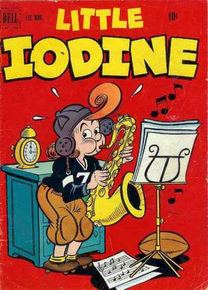 Little Iodine 10 - Clarinet - Clock - Sheet Music - Music Stand - Football