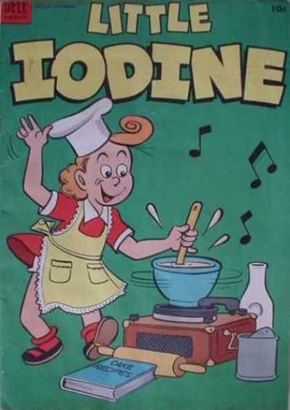 Little Iodine 19 - Cake Recipes - Red Dress - Chef Hat - Red Hair - Record Player