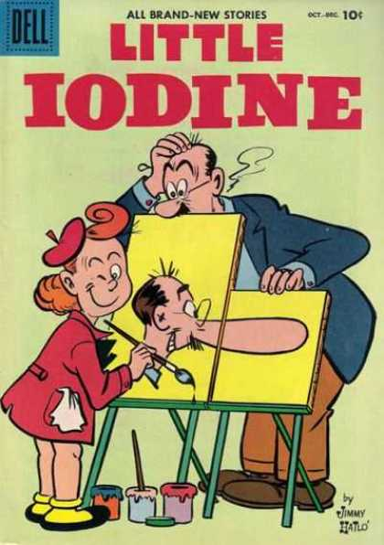 Little Iodine 34 - Nose - Painting - Confusing - Winking - Red Coat