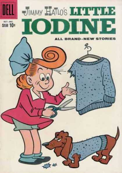 Little Iodine 46 - Pink Dress - Red Hair - Blue Sweater - Winnie Dog - Scissors