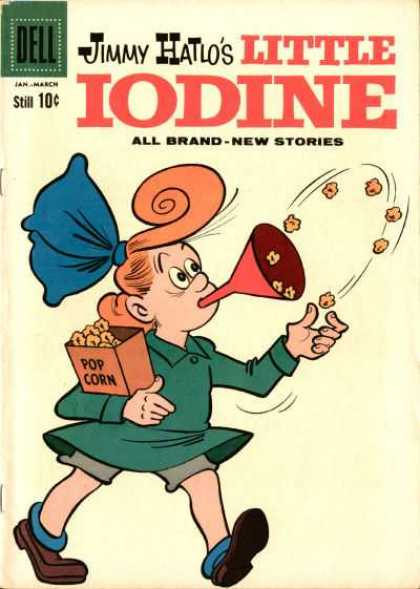Little Iodine 51 - Jimmy Hatlo - Girl - Popcorn - Bow - Funnel