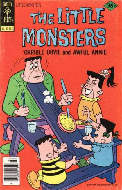 Little Monsters 44 - Picnic Table - Fork - Spoon - Gold Key - Orrible Orvie And Awful Annie