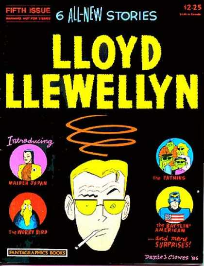 Lloyd Llewellyn 5 - All New Stories - Fifth Issure - Introducing - Maiden Japan - Fantagraphics Books - Daniel Clowes